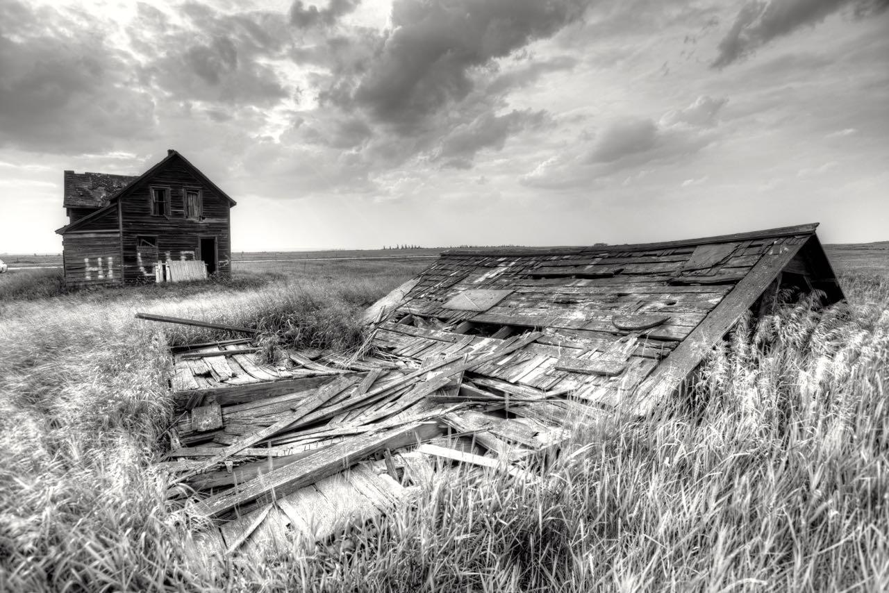 Einsames Geisterhaus.