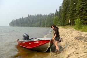 """Prince Albert National Park: Wassertaxi zu """"Grauer Eule"""""""