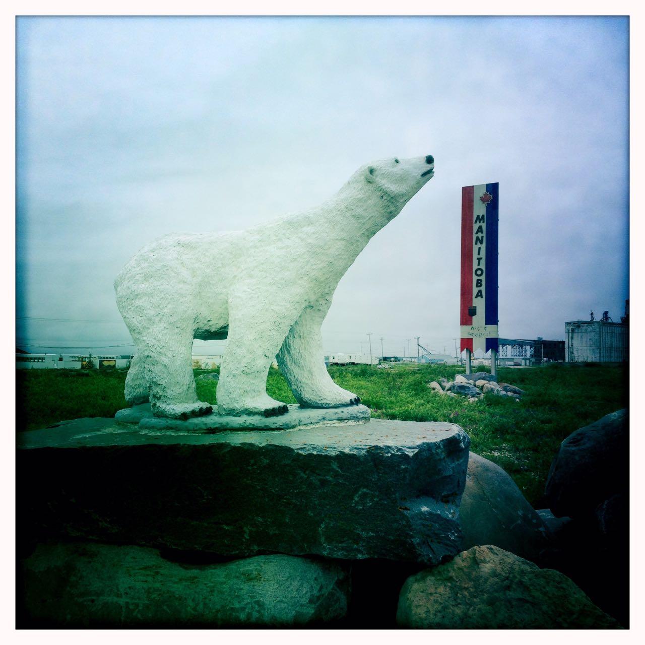 Denkmal für den Eisbär.