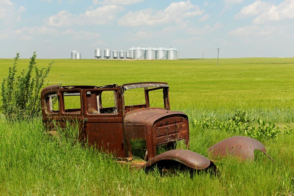 Verrosteter Oldtimer in Scotsguard, Saskatchewan